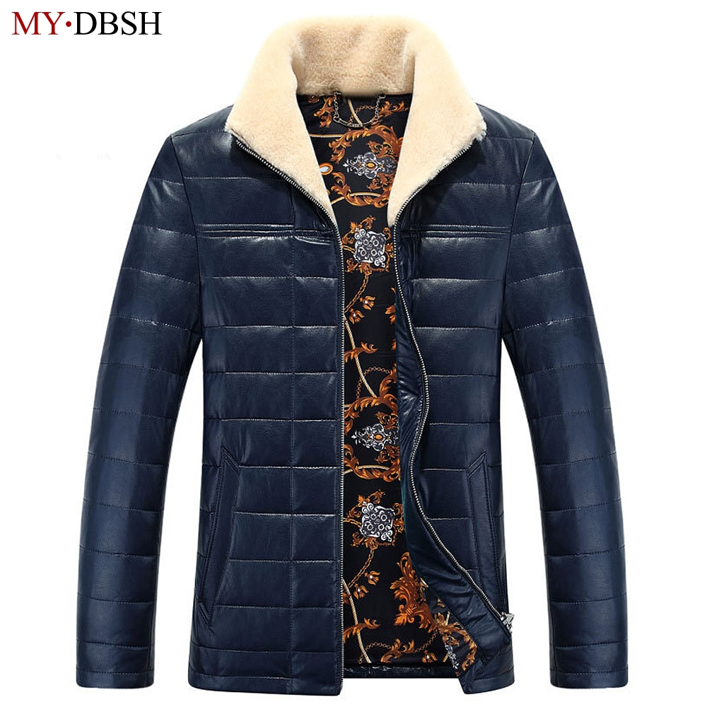 High Quality Mens White Duck Down Jackets Autumn & Winter Men Casual Outwear Coats Thick Warm Fur Collar Trench Coats Size S~5XL