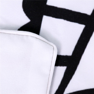 Image 5 - CAMMITEVER Black White Lotus Bedding Set King Printed Duvet Cover Home Textiles Microfiber Bedclothes 3 Piece