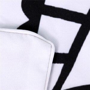 Image 5 - CAMMITEVER Schwarz Weiß Lotus Bettwäsche Set König Druckte Duvet Abdeckung Hause Textilien Mikrofaser Bettwäsche 3 Stück