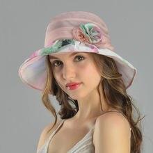 2017 Novo Estilo de Férias de Férias Chapéu de Sol Chapéu Feminino Verão de  Seda Elegante 7f204ac936d