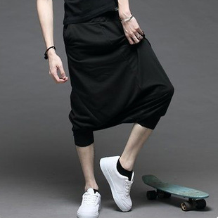 فضفاض pantalon 2016 الصيف نمط قطرة المنشعب - ملابس رجالية