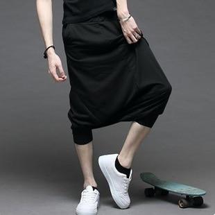 Loose Pantalon 2016 Sommar Style Drop Crotch Byxor Män Hip Hop Dance - Herrkläder