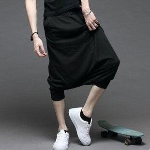 Loose Pantalon 2016 Summer Style Drop Crotch Pants Men Hip Hop Dance Sweatpants Casual Pants Men Famous Brand Harem Pants Men