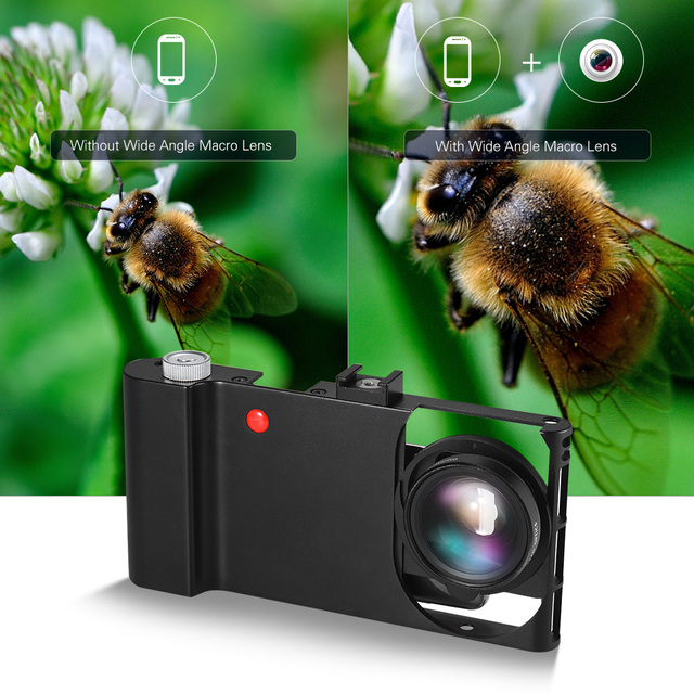 Andoer Smartphone Video Rig+Wide Angle Macro Lens+Phone Filming Cage Stabilizer for iPhone Samsung Huawei Stabilizer Video Rig 1