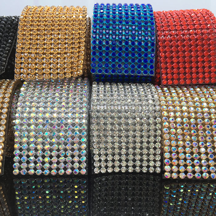 Φ_Φ New! Perfect quality iron rhinestone mesh trim crystal