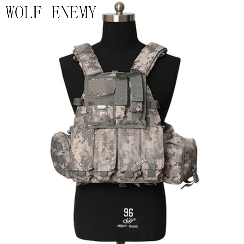 Airsoft Military 1000D US Navy Seals Tactical Molle LBT 6094 Vest Outdoor Combat Hunting Nylon Molle Vest w/Pouches barbour hackamore vest navy