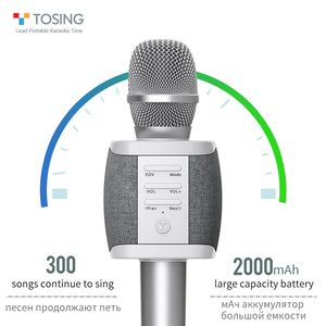 Image 3 - 2020 New most popular professional bluetooth  Handheld Wireless karaoke microphone for cell phone /TV singing support TF card