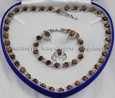 Eye Lien Bracelet/Boucles D'oreilles/Anneau/Collier set, Crystal Healing>> 18 K GP Plaqué or De Mariée large montre ailes reine JEWE