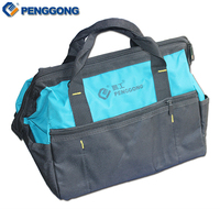 14 Multifunction Handheld Storage Tools Bag Utility Bag Electrical Package Oxford Canvas Waterproof With Carrying Handles