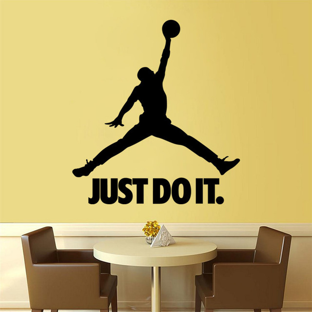 Removable Sports Figures Slamdunk Wall Stickers Living Room Boy ...