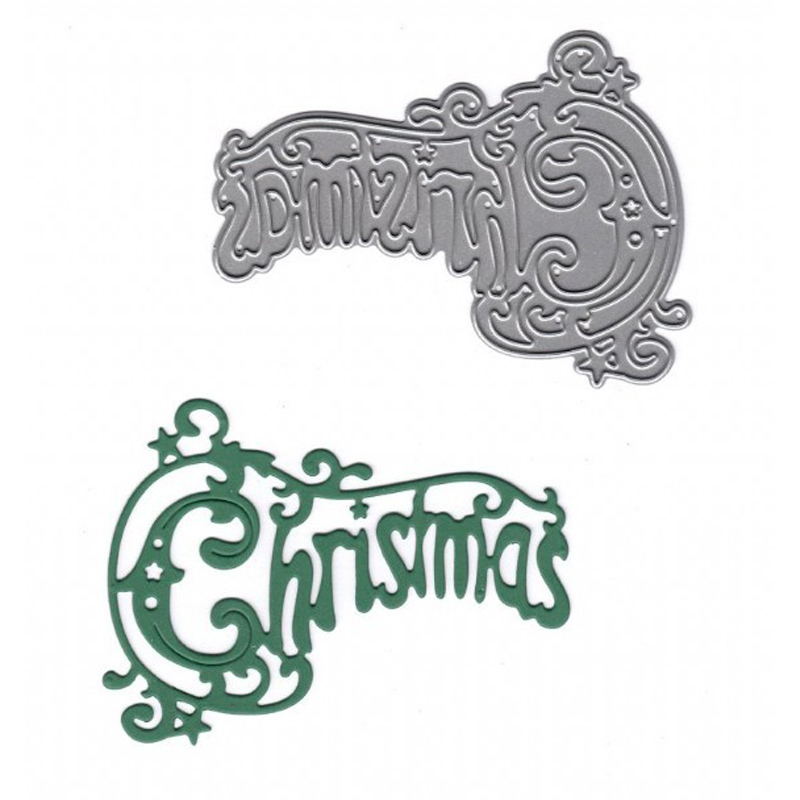 quot Christmas quot Word Metal Cutting Dies for Scrapbooking DIY Paper Cards Making Decorative Embossing Template Stencils New 2019 in Cutting Dies from Home amp Garden
