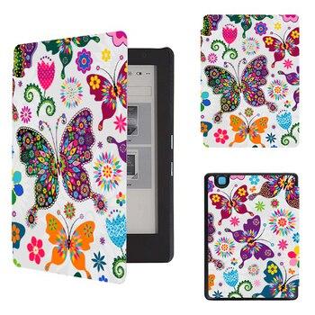 цена Folio case for 2017 Kobo aura H2o edition 2 PU leather case for kobo aura H2o edition 2 6.8