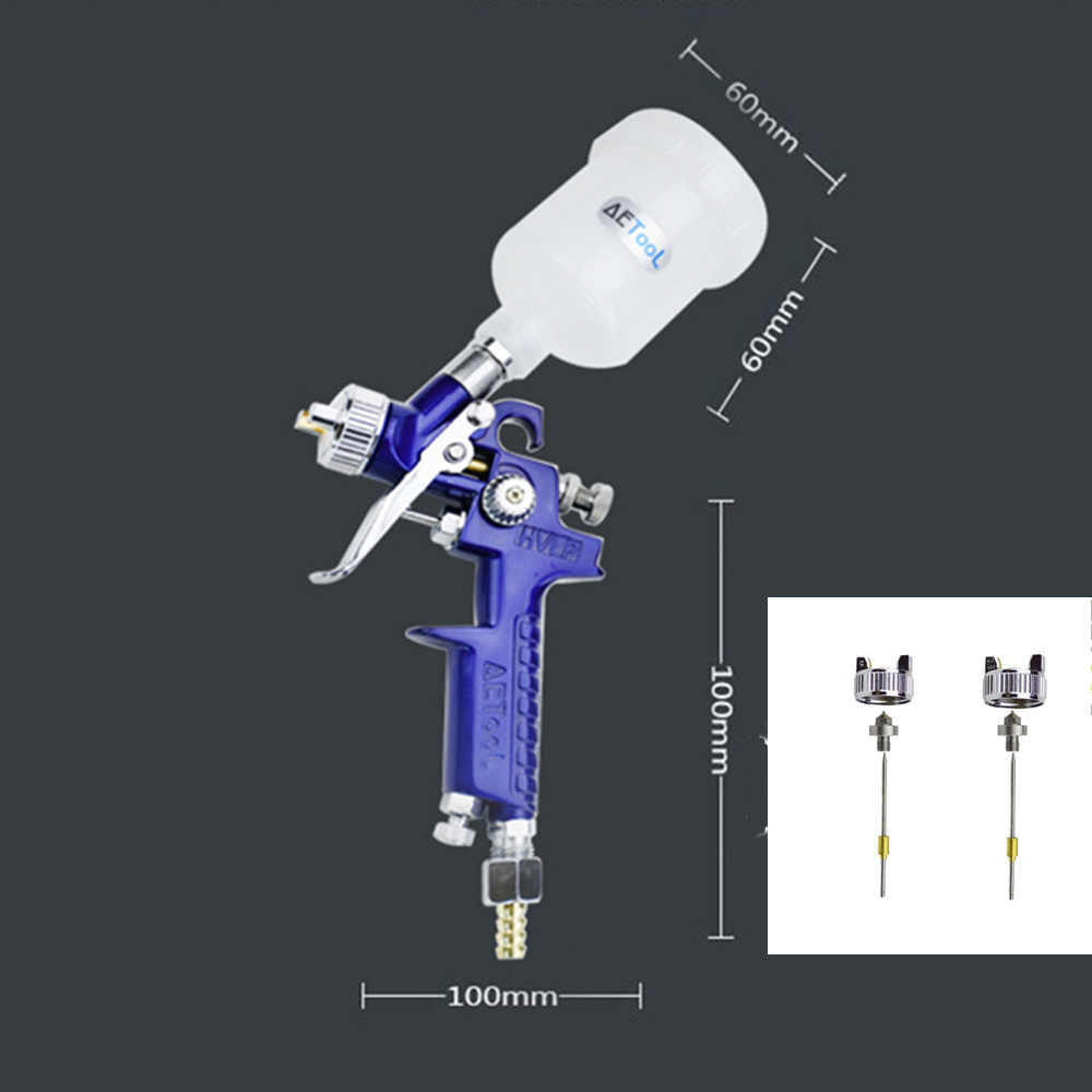 AETool 0.8 MM/1.0 MM Nozzle Vervang Kit + Professionele HVLP Spuitpistool Mini Air Verfspuitpistolen Airbrush voor Schilderen Auto Aerograph