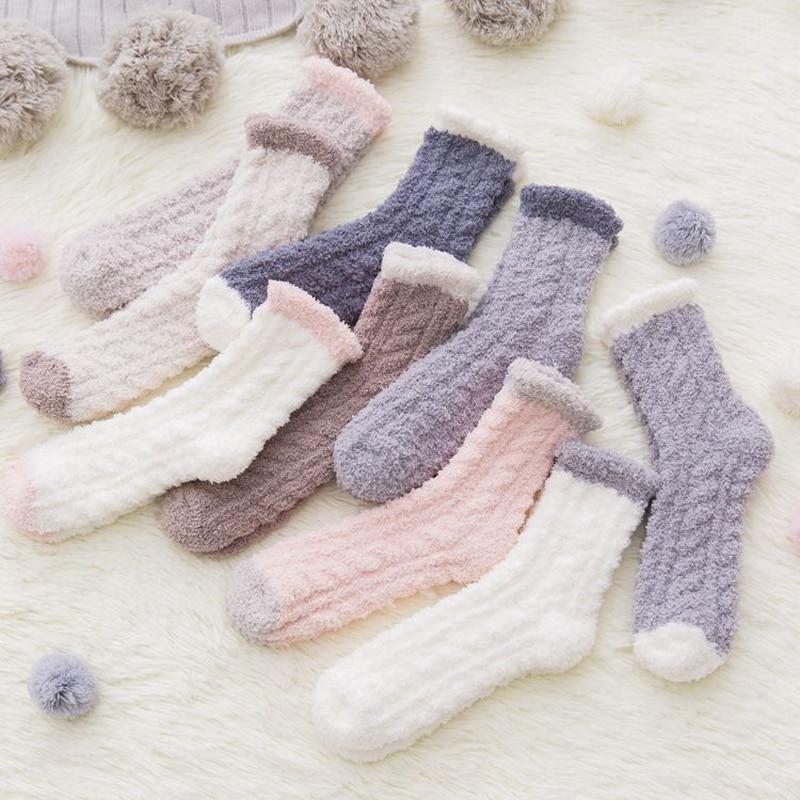 Free Shipping 2Pairs/Lot Winter Warm Socks High Quality Soft Towel Warm Fuzzy Socks Thick Floor Thermal Socks Winter Socks