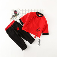 New Year S Costumes For Boys Children Clothing Sets Velvet Chinese Style Ethnic Clothing Sets Christmas