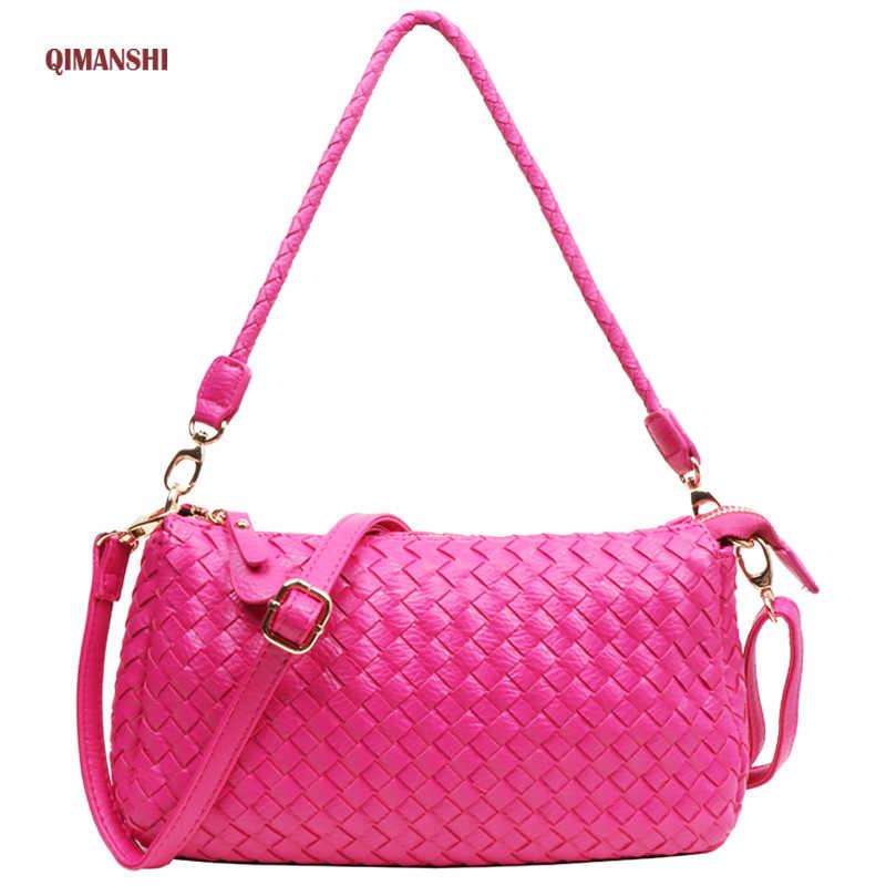QIMANSHI Для женщин сумка женская Курьерские сумки 2017 Crossbody Сумка кожаная моды
