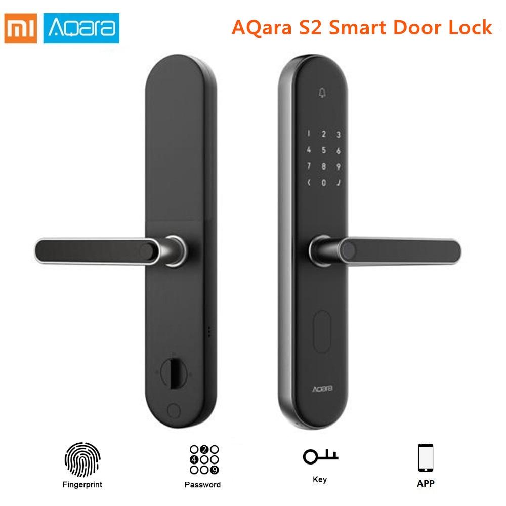 Original Xiaomi mi jia Aqara S2 huella digital inteligente cerradura de la puerta de trabajar con mi App casa sin llave cerradura para Xiaomi inteligente kit de casa