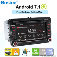 Android 7,1 7 2din DVD для VW POLO GOLF 5 6 поло PASSAT B6 CC JETTA TIGUAN TOURAN EOS шаран SCIROCCO CADDY с gps Navi