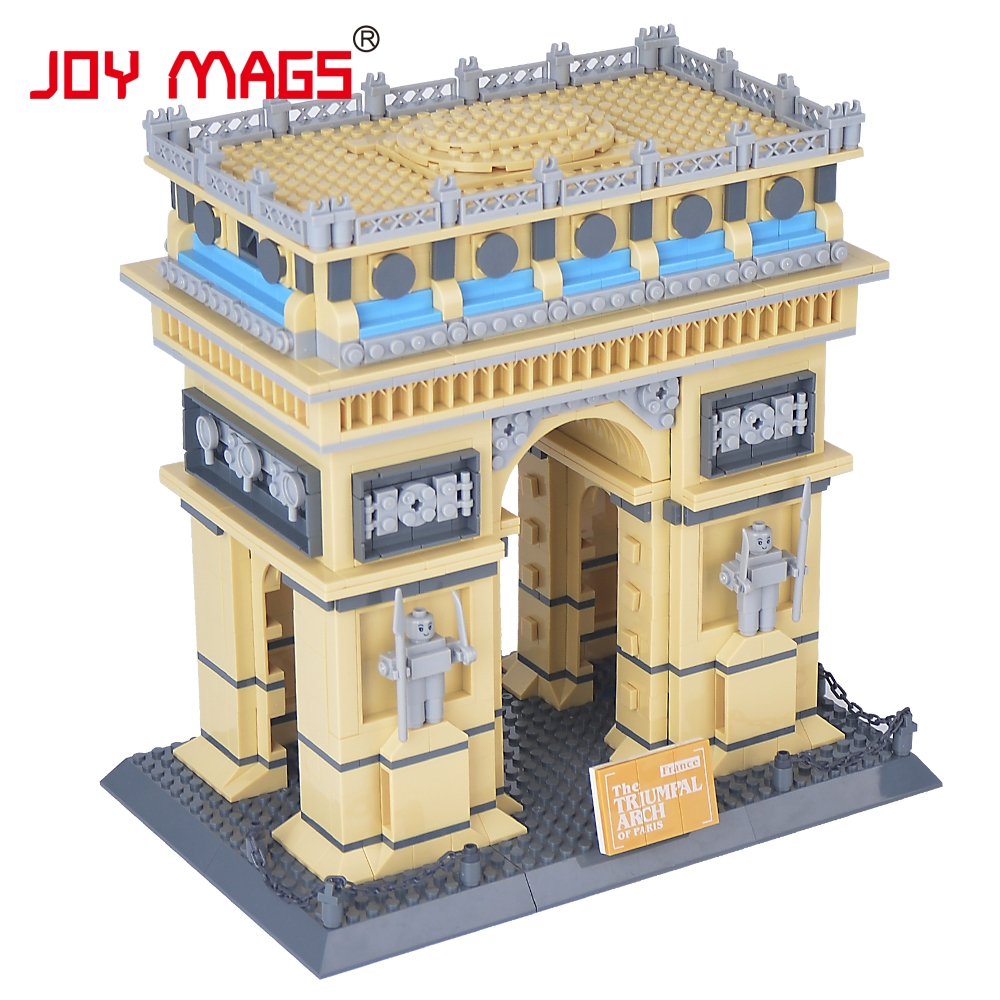 JOY MAGS Toy Building Blocks Famous Architectures