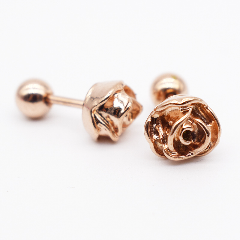 Abaicer Jewelry 2pcs Rose Flower Design Tragus EarringCartilage