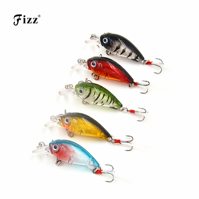 3.6cm 4g Fishing Wobblers with Feather Mini Crankbait Fishing Lure Crank Bait Hard Plastic Artificial Fishing Lures CB028