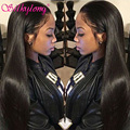 7A Full Lace Human Hair Wigs for Black Women SilkyLong Brazilian Virgin Hair Straight Lace Front Human Hair Wigs With Baby Hair