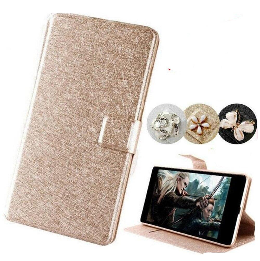 Lujo pu de cuero flip phone case para lenovo a6010 plus & a6000 y para lenovo le