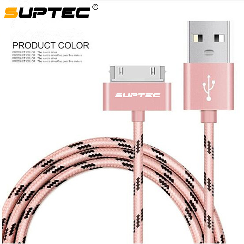 SUPTEC USB Cable Charge Fast Charging for iphone 4 s 4s 3GS 3G iPad 1 2 3 iPod Nano itouch 30 Pin Charger adapter Data Sync cord(China)