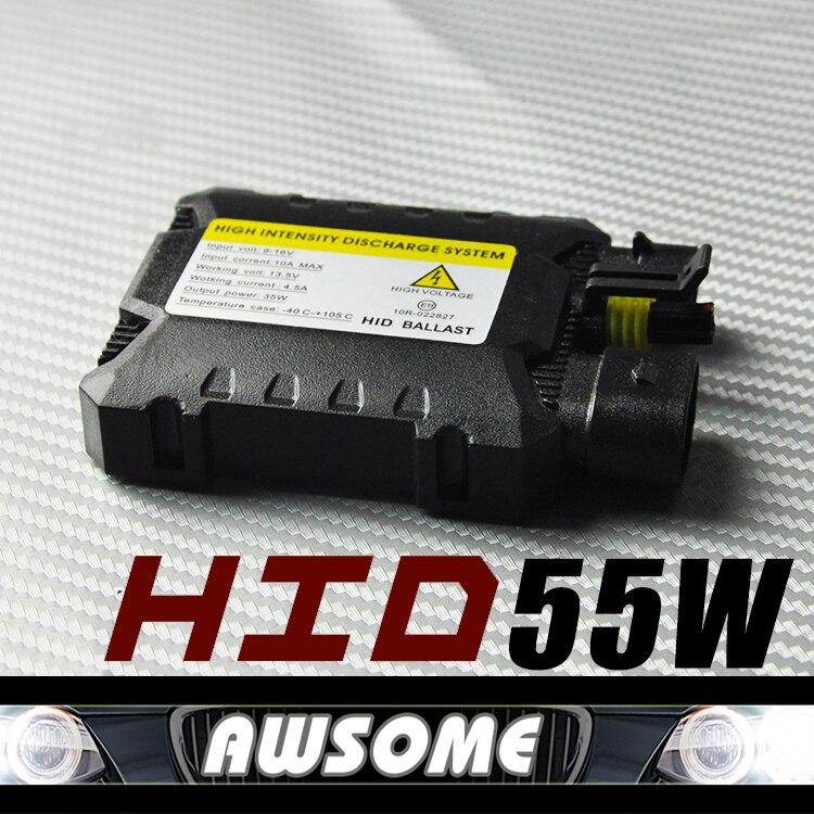2x 12V Xenon 55W Digital Slim Blocks Electronic Ballast for HID Conversion Fog Headlight Kit H1