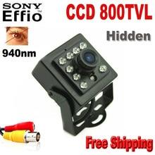 800TVL Night Vision 10pcs IR 940nm Sony CCD Security Indoor CCTV Mini Camera ccd camera Night vision camera 960H
