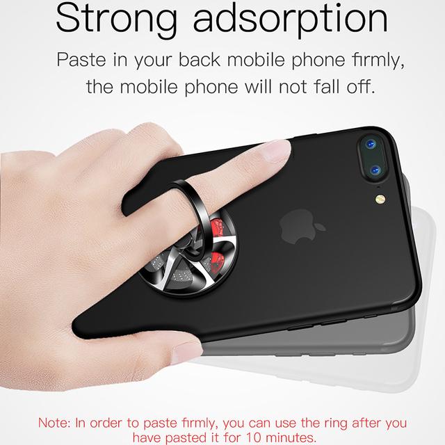 Baseus Gyro Finger Ring Holder Hand Spinner Rotary Rotation Metal Mobile Phone Holder Stand For iPhone Samsung Phone Ring Holder