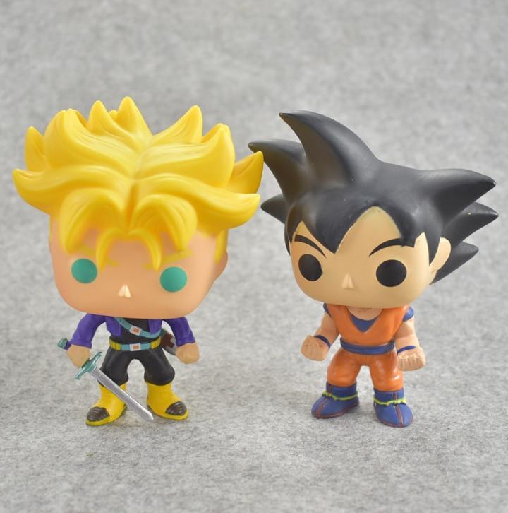 1 pcs Novelty 10cm POP Dragon Ball Model Toy Son Goku Trunks PVC Action Figure Super Saiyan Doll Collection Toy Gift For Boy