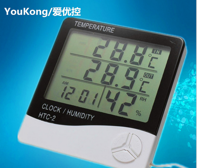 Htc 2 Digital Weather Station Thermometer Hygrometer Electronic Barometer
