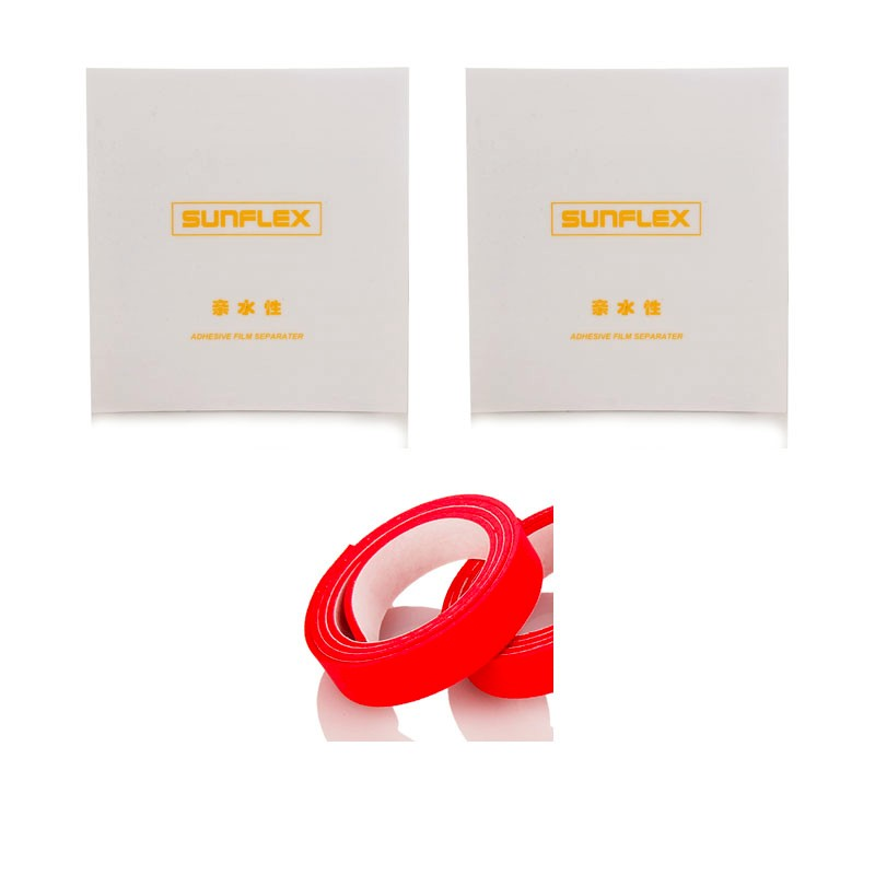 2x SUNFLEX Self-sticky Table Tennis Protective Film Protector + 1x Side Edge Tape Accessories Set Ping Pong