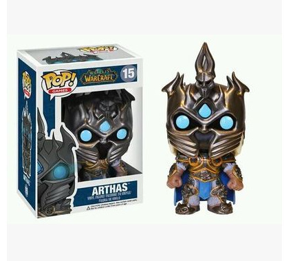 World Warcraft Wow Game Periphery Funko POP Hill Vanasse The Witch King Illidan Sylvanas Arthas Action Toy Figures Jewelry Set 4