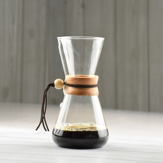 1 PC darmowa wysyłka szkło odporne na wysoką temperaturę ekspres do kawy 3 kubki liczone Chemex gorąca Brewer dzbanek do kawy Barista Percolator