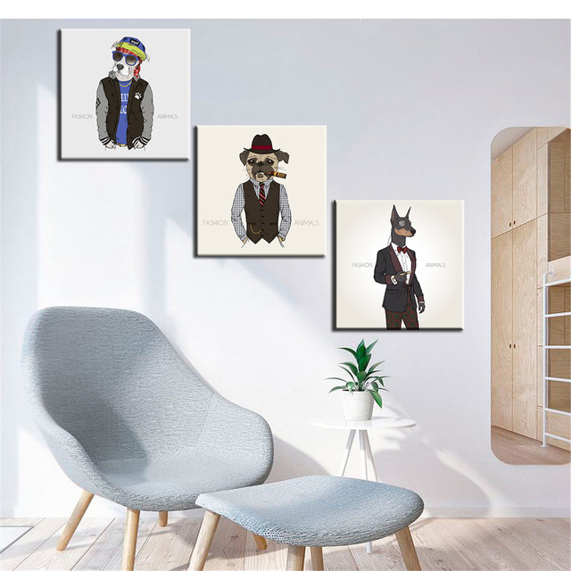Fashion Animals Canvas Painting For Living Room Wall Art Prints Poster  Modern Oil Picture Home Decor Part 81