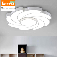 A Dimming Light White Windmill Led Living Room Lights Modern Minimalist Bedroom Lamp Round Iron Lamp