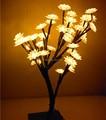 LED flor de cerezo árbol de Noche lámparas de mesa de iluminación interior del hogar para el dormitorio Luminaria decoración de Navidad año nuevo boda