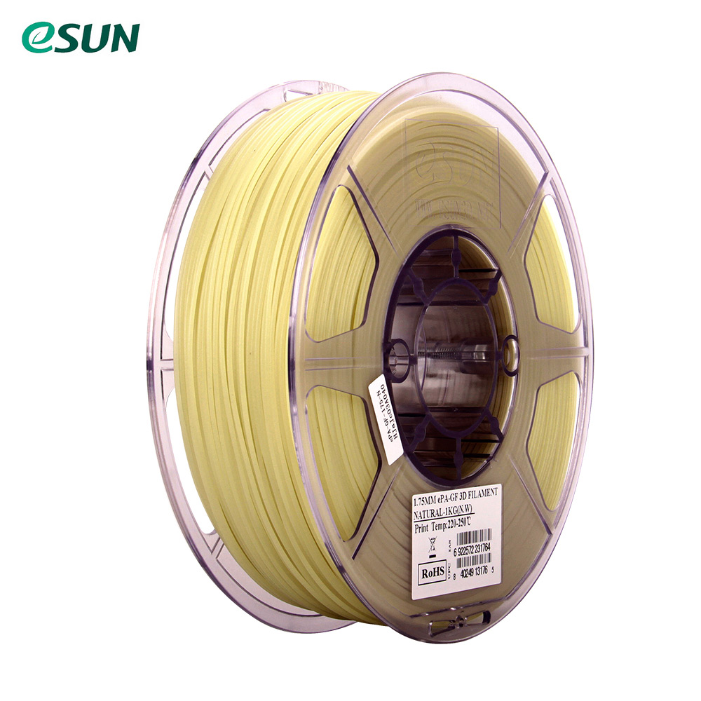 eSUN ePA GF 1 75mm Glass Fiber Filled 3D Printer Filament 1kg 2 2lb Spool Material