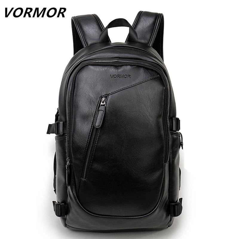 0f5d095aabe7 2019 VORMOR бренд водостойкий 15,6 дюймов ноутбук рюкзак мужские кожаные  рюкзаки для подростка мужские повседневные Daypacks mochila мужской