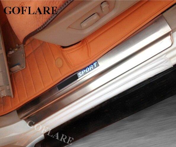 Led Auto Door Sill Protector For Mitsubishi Pajero Montero Sport KG/KH Accessories 2008-2016 Illuminated Door Sills Scuff Plate