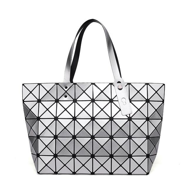 df4888882e 2016 Bao Bao Women Pearl Bag Lattice Tote Geometry Quilted Shoulder Bag  Japan Brand Bling Bling Diamond Fold Sac Bags Handbags