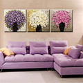 3pcs/set Pictures Painting By Numbers DIY Digital Oil Painting Flower On Canvas wall pictures for living room Home Decor HD0173