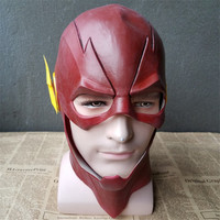 The Flash Latex Mask Justice League Super Heroes Action Figure Model Collection Halloween Full Head Barry