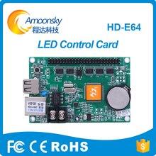 Huidu levou placa controladora HD-E64 para P10 RGB levou módulo aliexpress preço barato