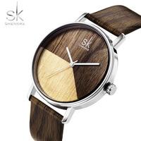 Wood Leather Band Women Watches Japan Watch Girl Quartz Analog Wristwatch Casual Fashion Gift SK Luxury