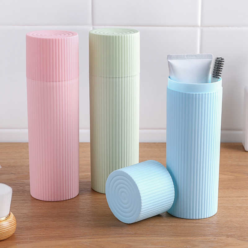 Bathroom Tumblers Travel wash cup portable wash cup brush tooth  with toothbrush creative simple toothbrush toothpaste  storage