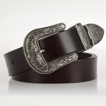 Metal Pin Buckle High Quality Leather Belt For Women