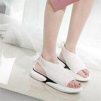 women sandals for 2018 summer new platform sandal shoes breathable comfort shopping ladies walking shoes white black